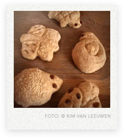 trakteren broodjes in diervorm