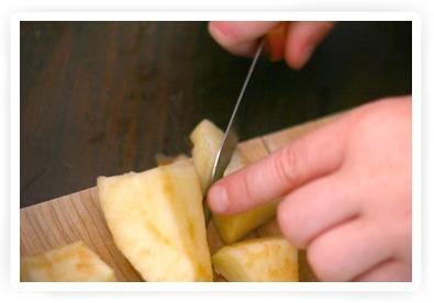 zelf appelmoes maken met kiind