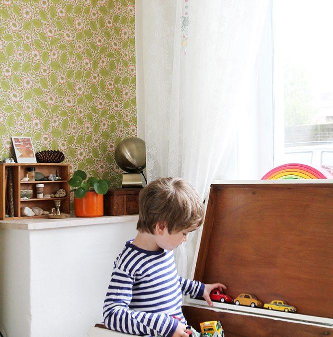Met drie kinderen in een klein huis