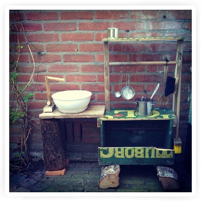 speelkeuken voor buiten maken