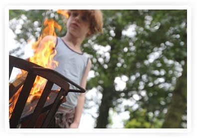 kinderen en vuur