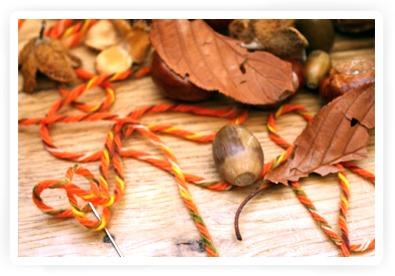 herfstslinger knutselen met kiind