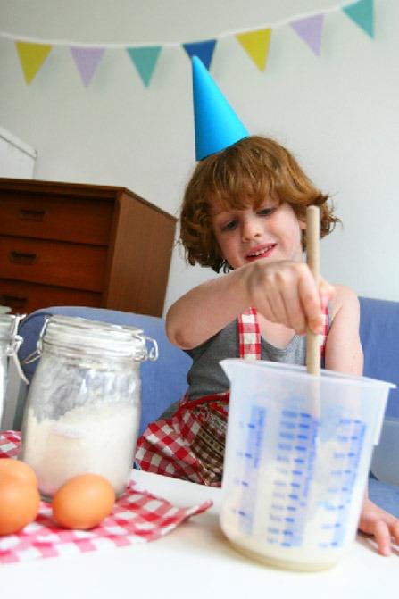 Kookfeest als kinderpartijtje