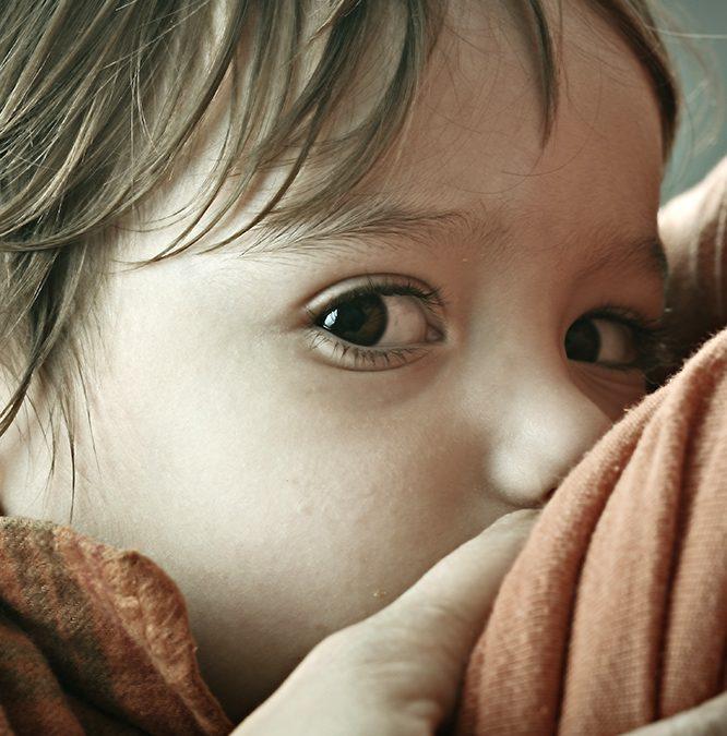 Langvoeden van kind