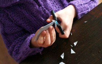 Raamkristallen vouwen en knippen