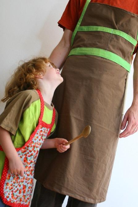 Maak een schort voor ouder en kind