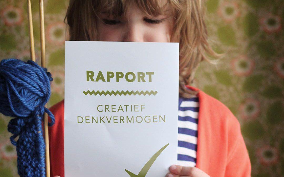 rapport: 'creatief denkvermogen': vinkje!