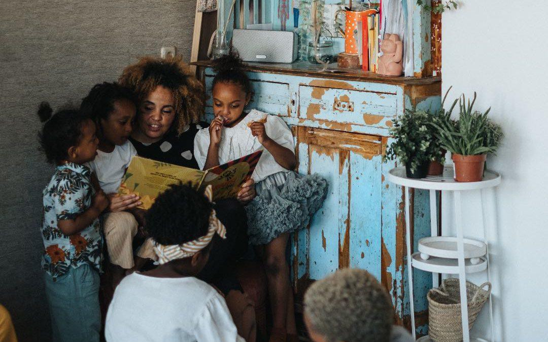 Stads leven met zeven kinderen